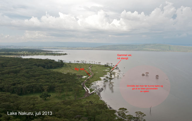 Lake Nakuru waterlevel 2013